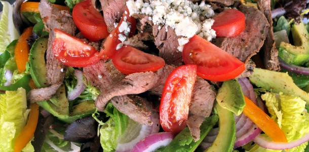 Bone Suckin' Carne Asada Salad Recipe is a delicious summer meal and our Bone Suckin' Steak Seasoning and Rub makes it even more tasty.