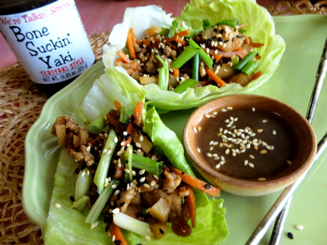 Bone Suckin' Yaki Lettuce Wraps Recipe
