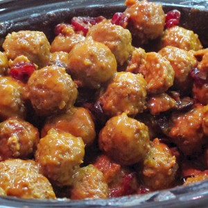 Easy Cherry Meatballs