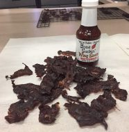 Our Bone Suckin'® Honey Habanero Wing Sauce turns thinly sliced dehydrated beef into a healthy and yummy snack.
