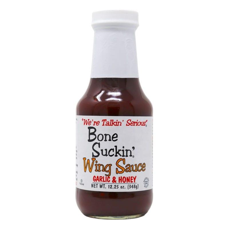 Wing Sauce, Garlic and Honey Jar, Bone Suckin' Sauce