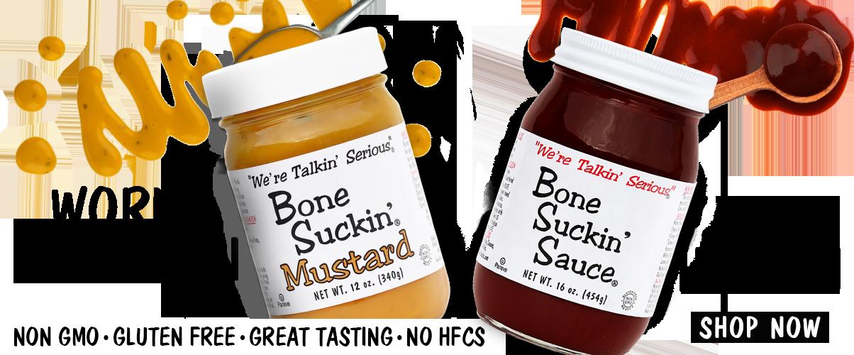 Bone Suckin Sauce and Mustard Ad